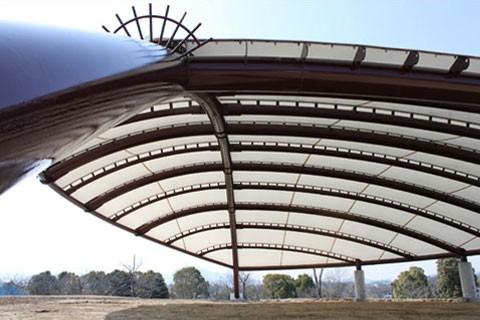 馬見丘陵大型テント新築工事