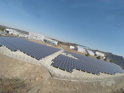 積水化成品工業 太陽光発電所 建設工事
